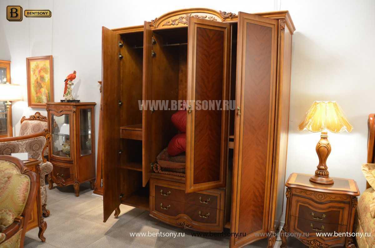 Шкаф 4-х дверный Флетчер (Массив дерева, Классика) распродажа