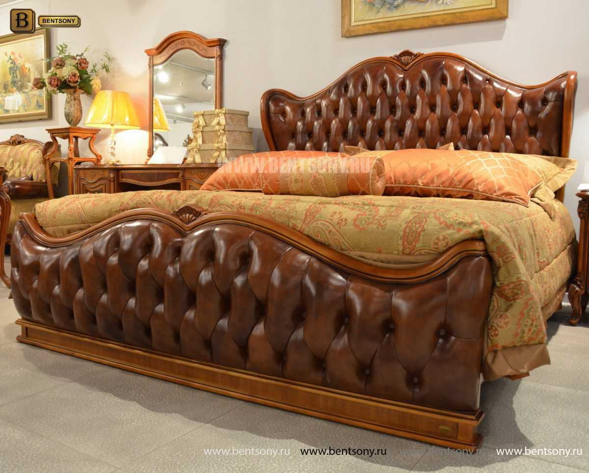 Кровать Флетчер А (Классика, Натуральная кожа) каталог мебели