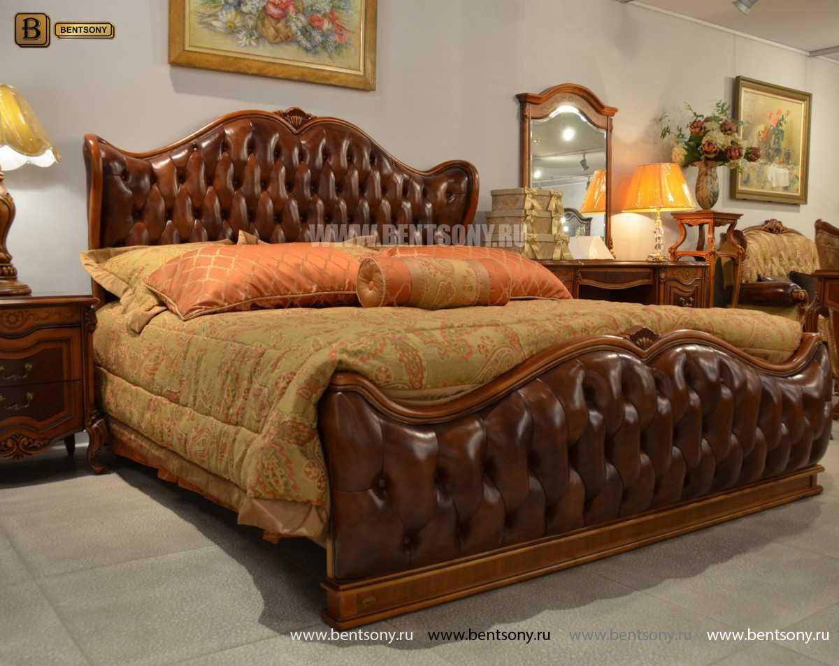 Кровать Флетчер А (Классика, Натуральная кожа) цена