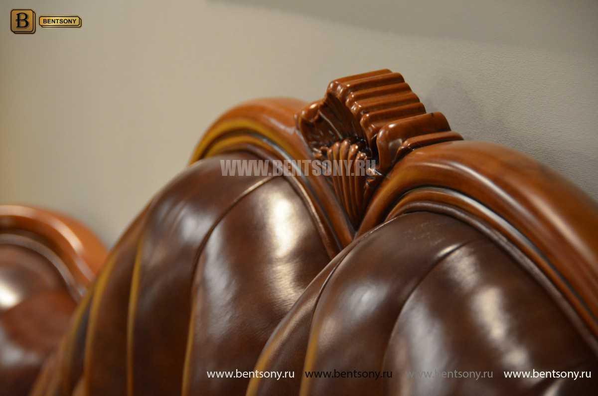 Кровать Флетчер А (Классика, Натуральная кожа) распродажа