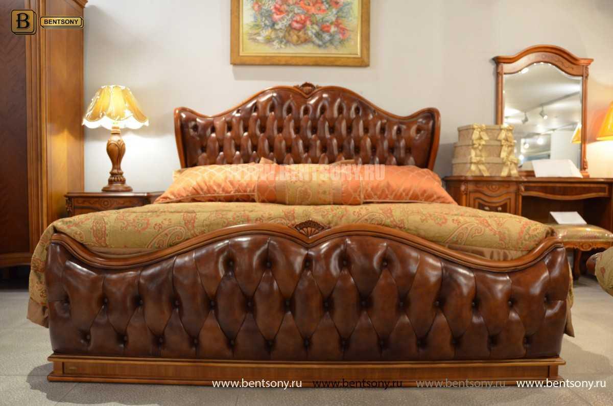 Кровать Флетчер А (Классика, Натуральная кожа) купить в Москве