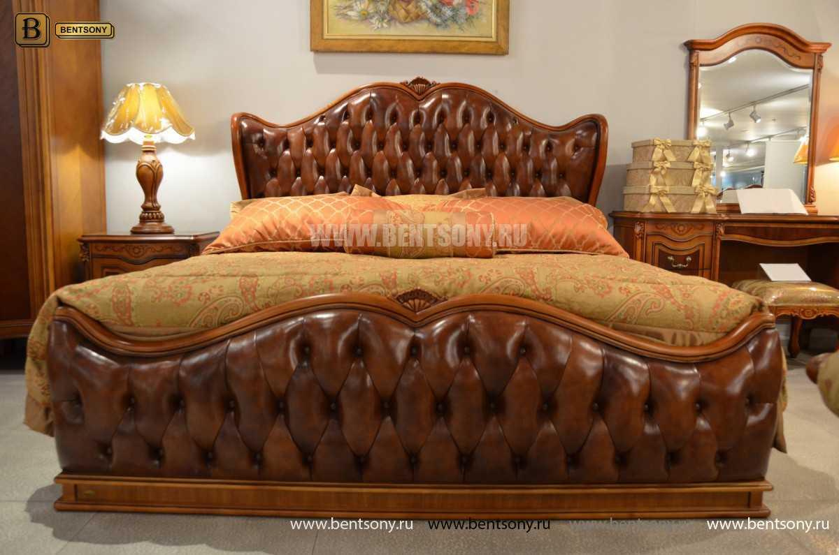 Кровать Флетчер А (Классика, Натуральная кожа) каталог с ценами