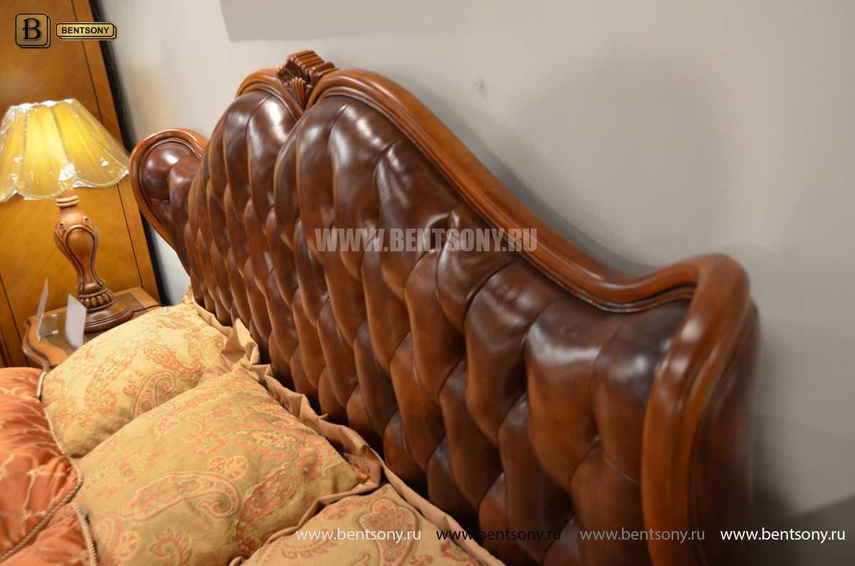 Кровать Флетчер А (Классика, Натуральная кожа) для квартиры