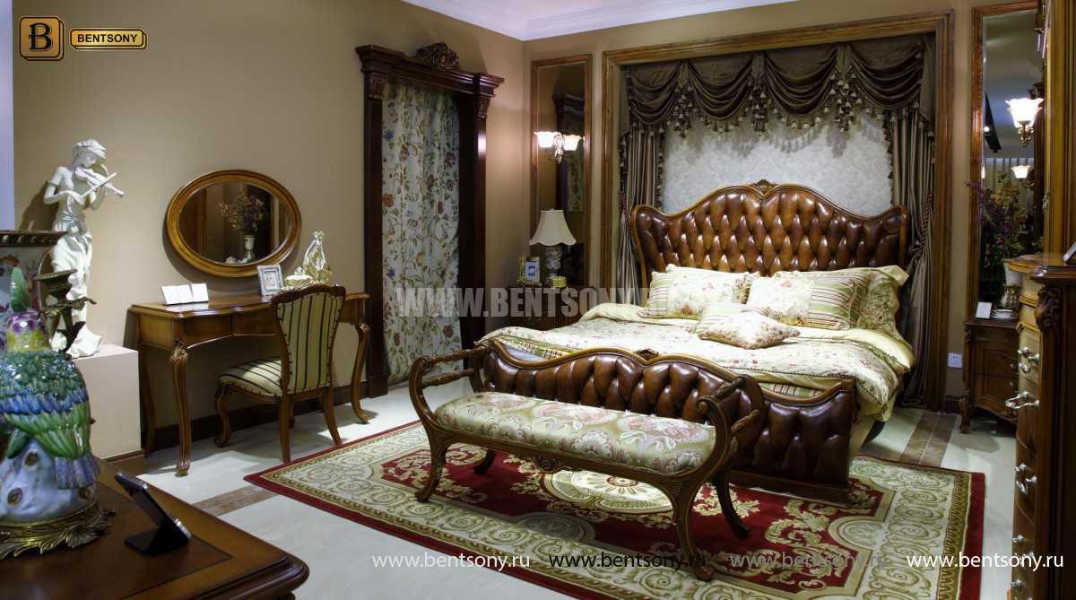 Кровать Флетчер А (Классика, Натуральная кожа) изображение