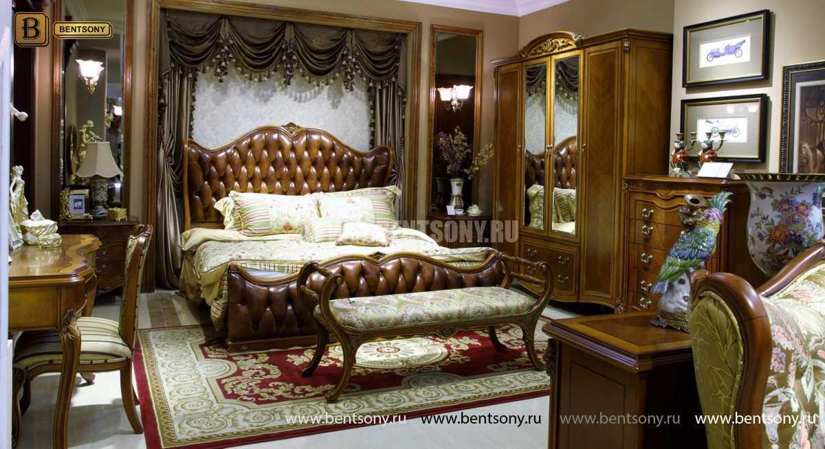 Кровать Флетчер А (Классика, Натуральная кожа) в Москве
