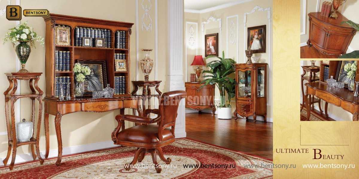 Витрина Флетчер для предметов декора (Классика, массив дерева) для дома