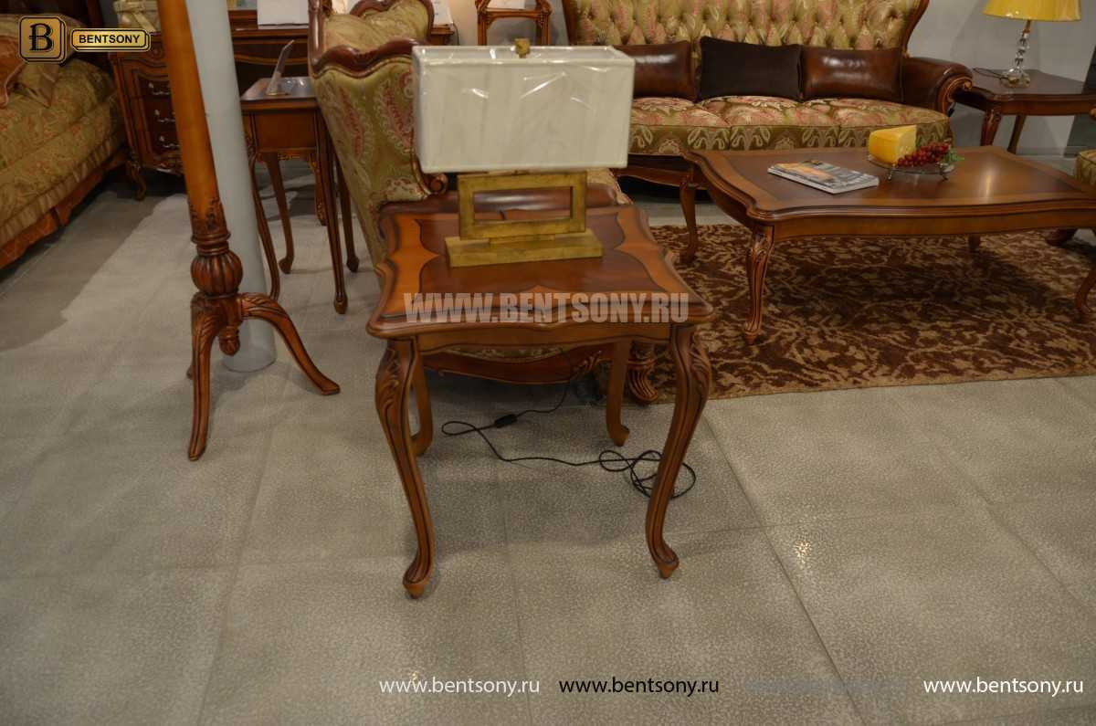 Стол чайный квадратный Флетчер (Массив дерева) в интерьере