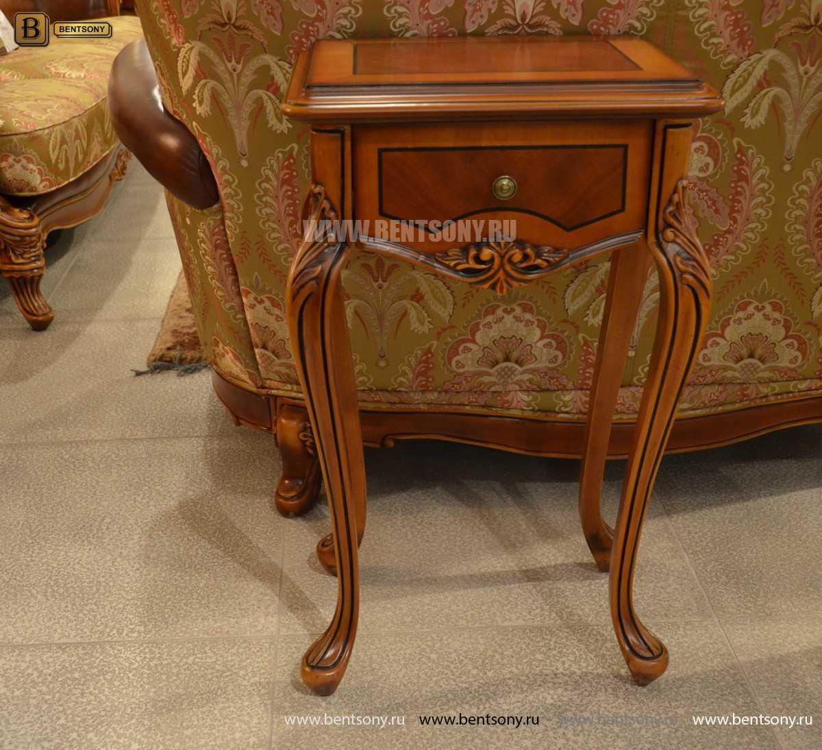 Стол под телефон Флетчер (Массив дерева, класика) каталог с ценами