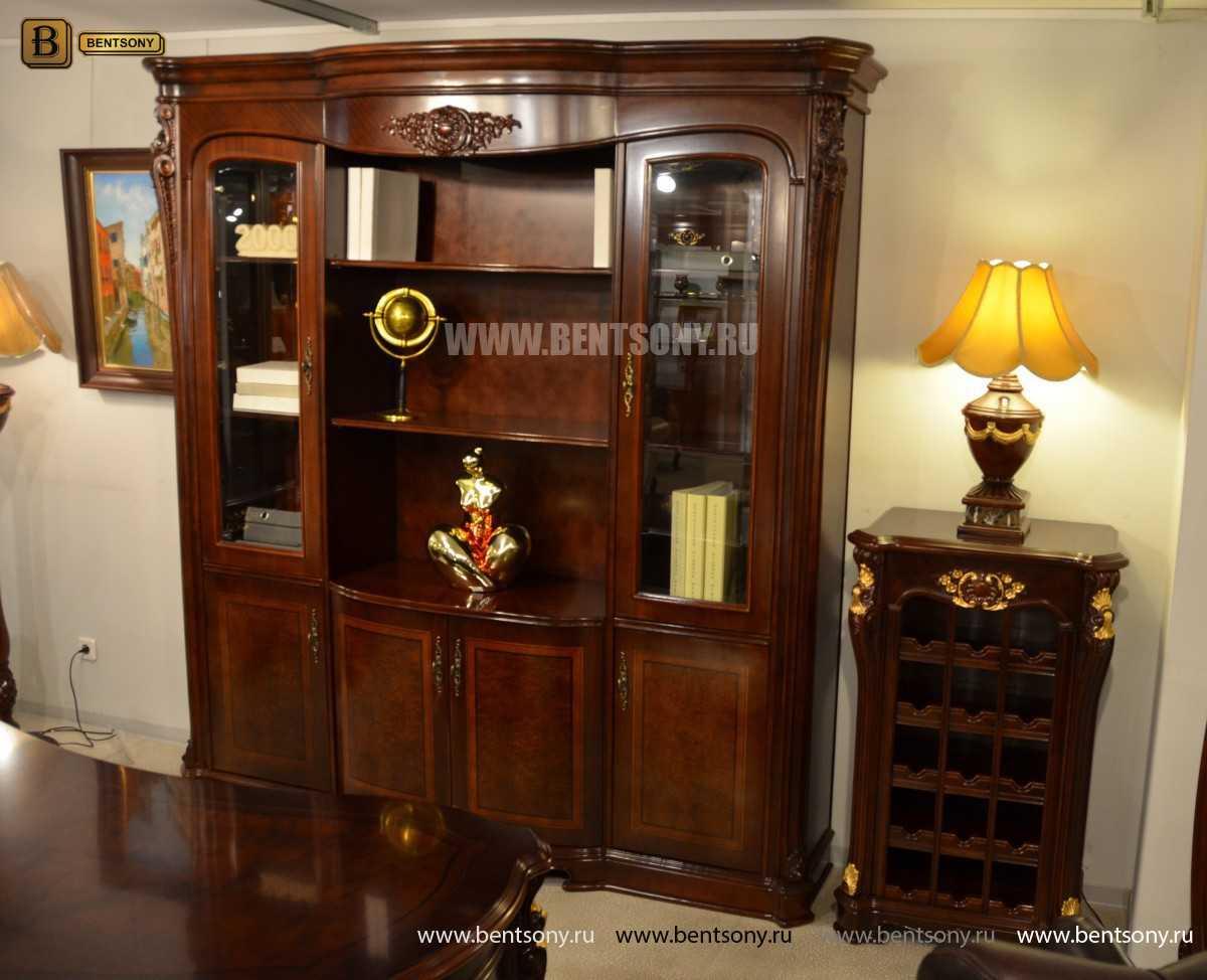 Шкаф Книжный Вагнер (Классика, массив дерева) каталог с ценами