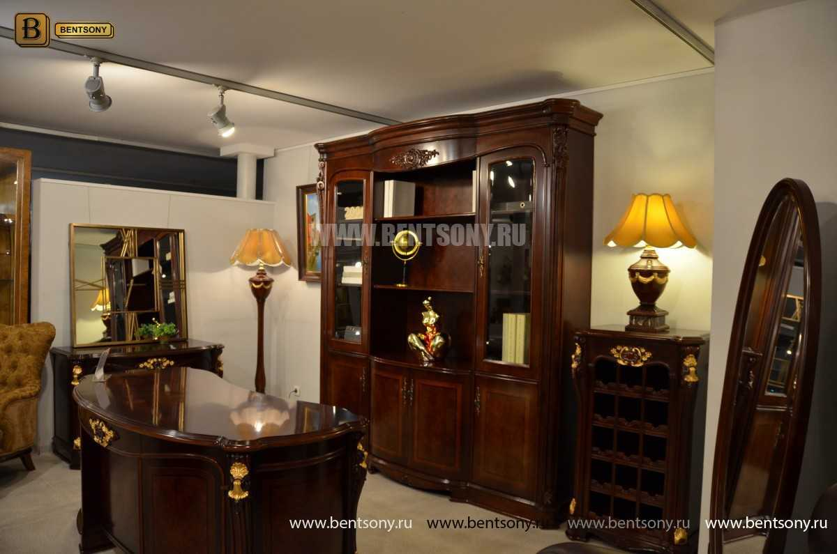 Шкаф Книжный Вагнер (Классика, массив дерева) купить в СПб