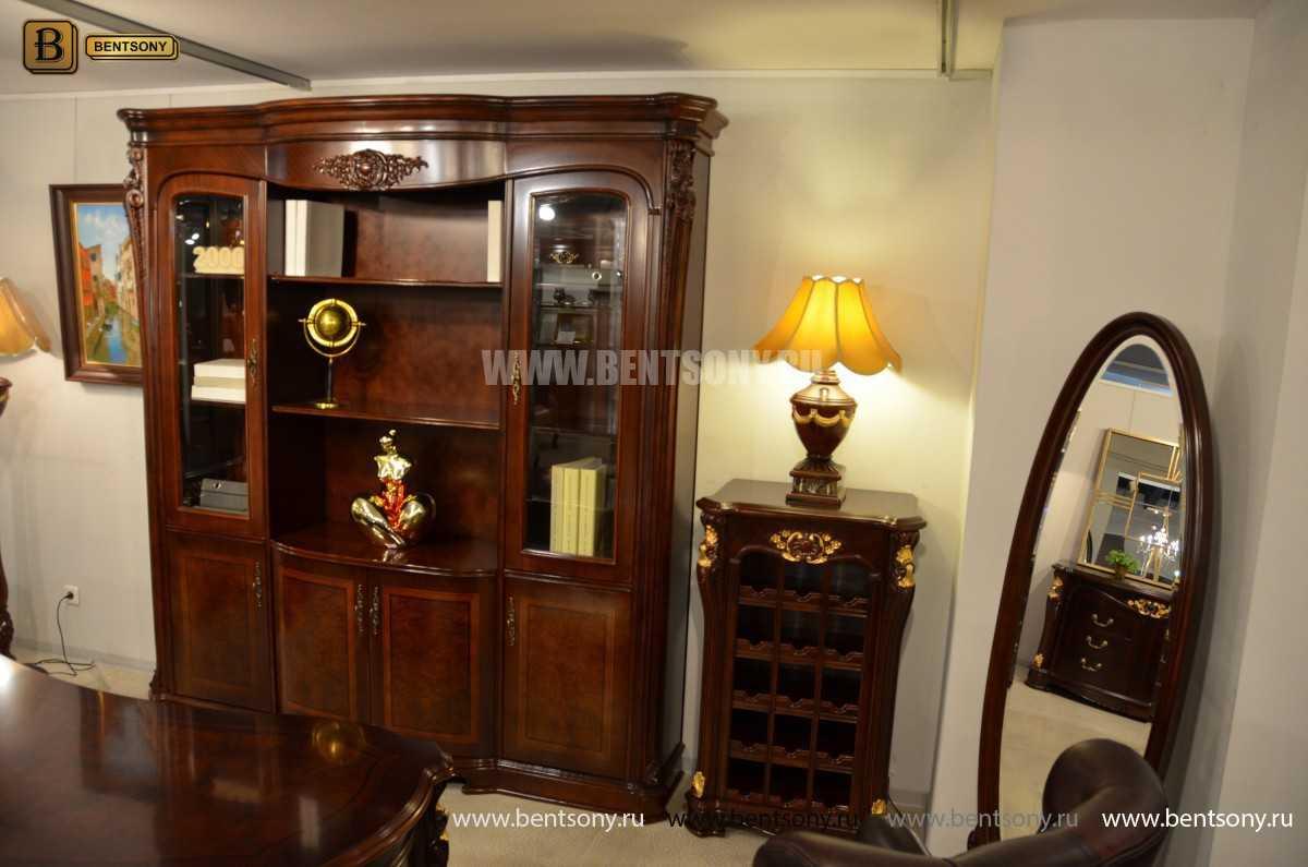 Шкаф Книжный Вагнер (Классика, массив дерева) для квартиры