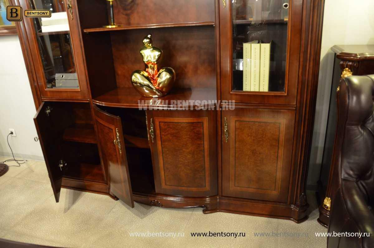 Шкаф Книжный Вагнер (Классика, массив дерева) для загородного дома