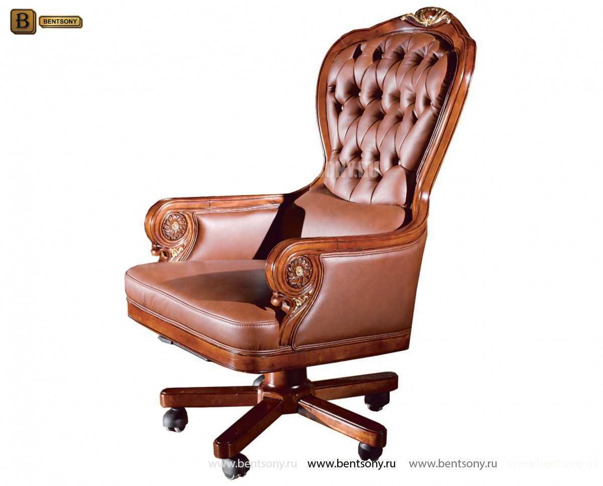 Кресло кабинетное Вагнер (Массив дерева, натуральная кожа) официальный сайт цены