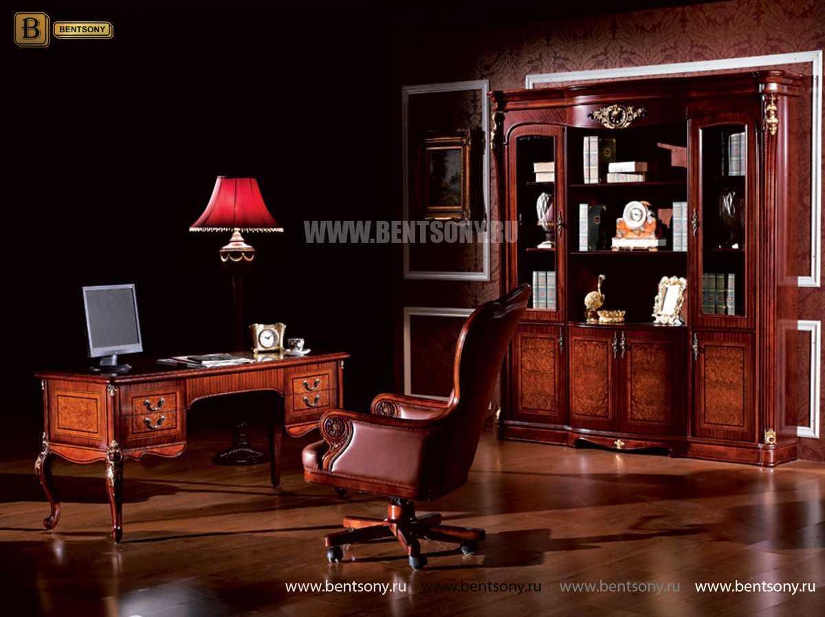 Кресло кабинетное Вагнер (Массив дерева, натуральная кожа) купить в Москве