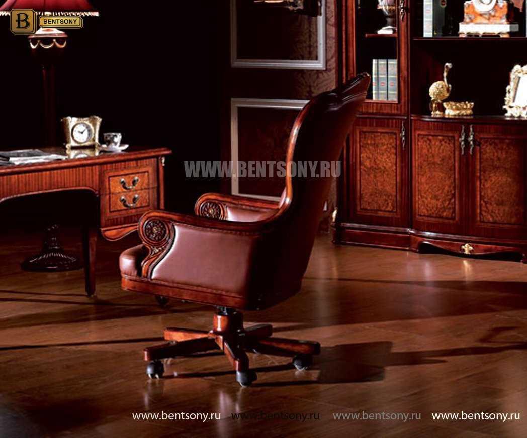 Кресло кабинетное Вагнер (Массив дерева, натуральная кожа) каталог мебели