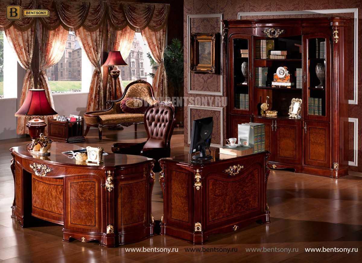 Кресло кабинетное Вагнер (Массив дерева, натуральная кожа) для дома