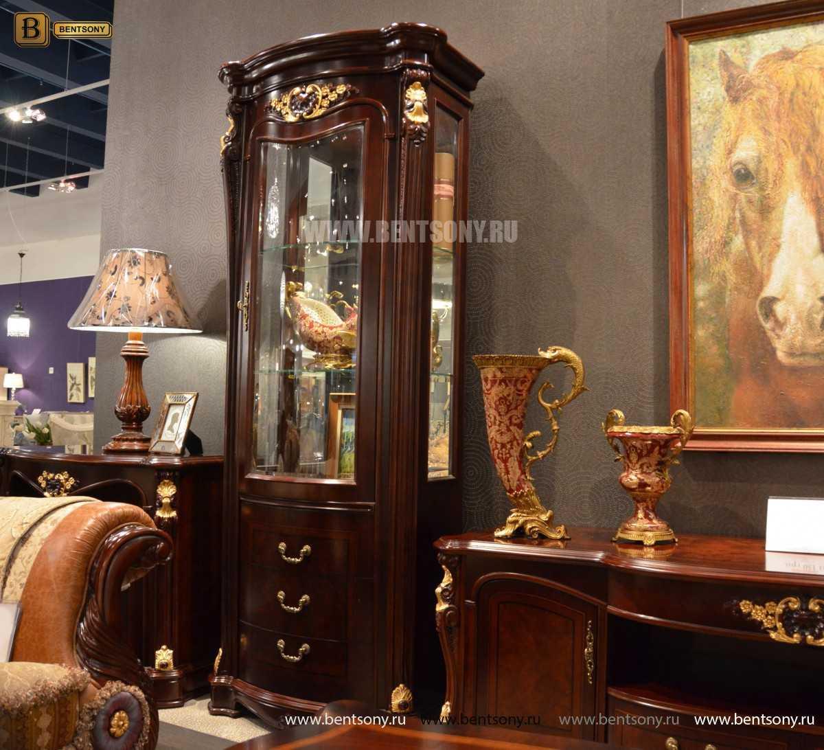 Витрина однодверная Вагнер (Классика, массив дерева) каталог мебели