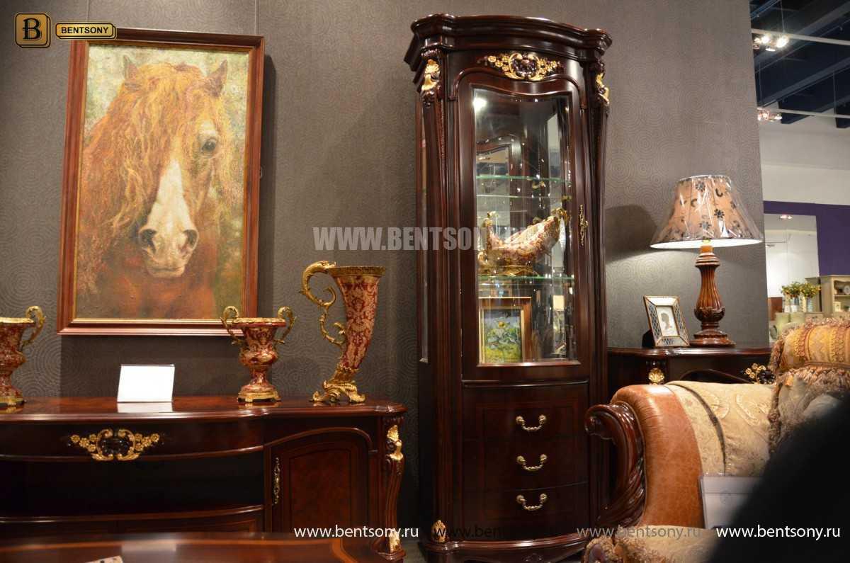 Витрина однодверная Вагнер (Классика, массив дерева) каталог мебели с ценами