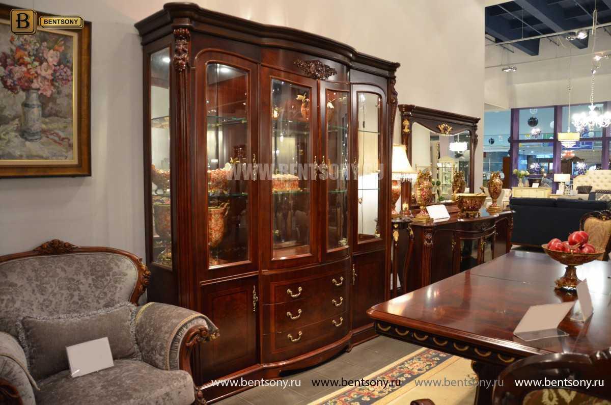 Витрина 4-х дверная Вагнер (Массив дерева, классика) официальный сайт цены