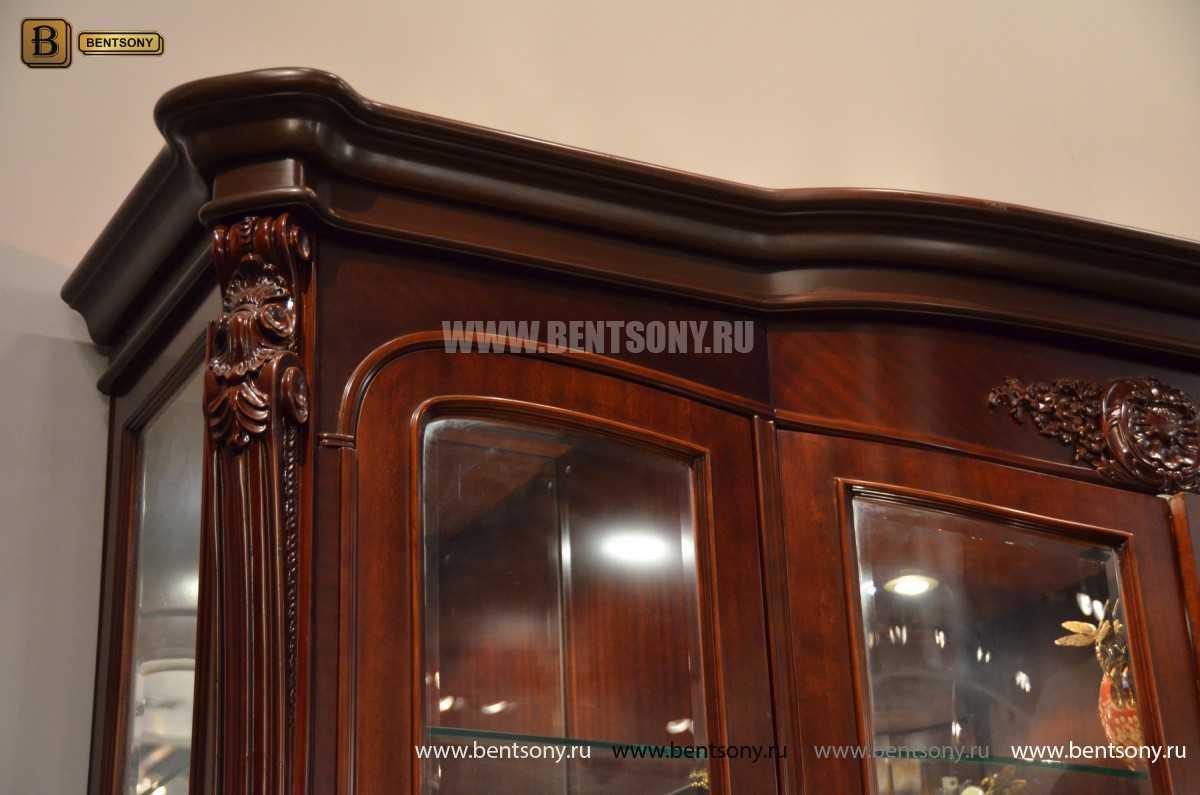 Витрина 4-х дверная Вагнер (Массив дерева, классика) купить