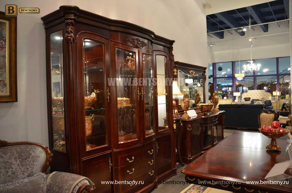 Витрина 4-х дверная Вагнер (Массив дерева, классика) каталог