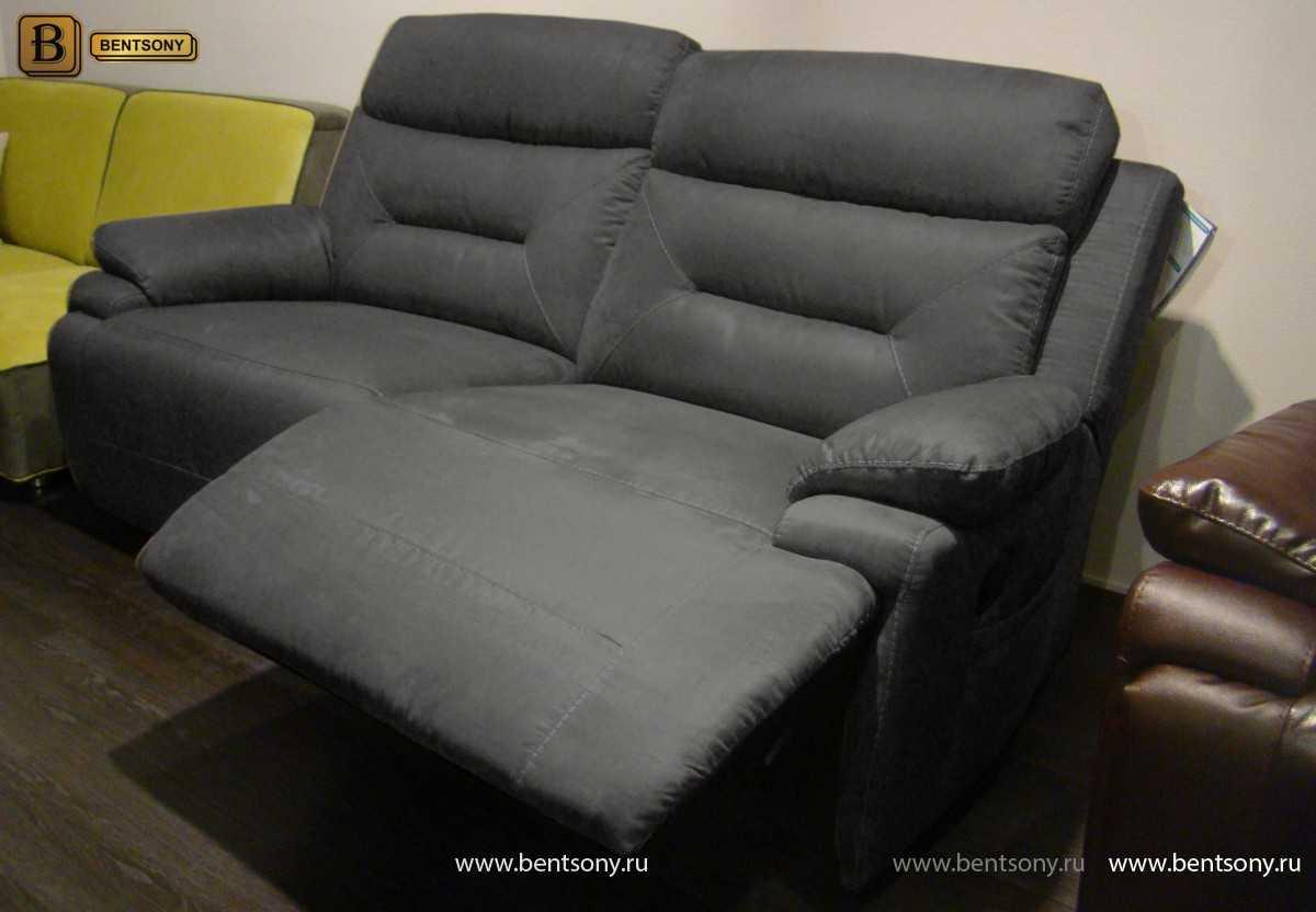 прямой тканевый диван серый Амелия