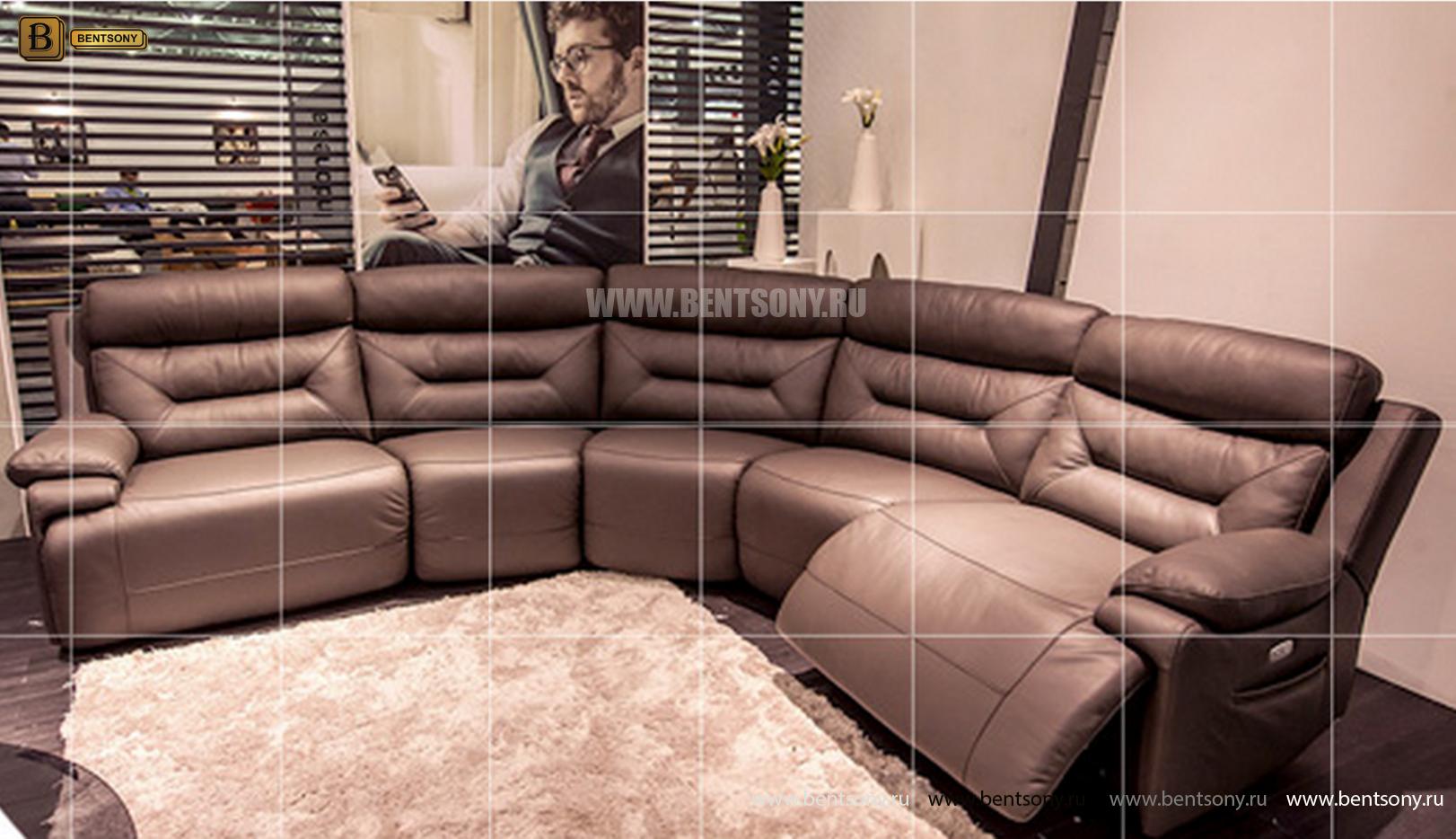 угловой диван в гостиной фото Амелия