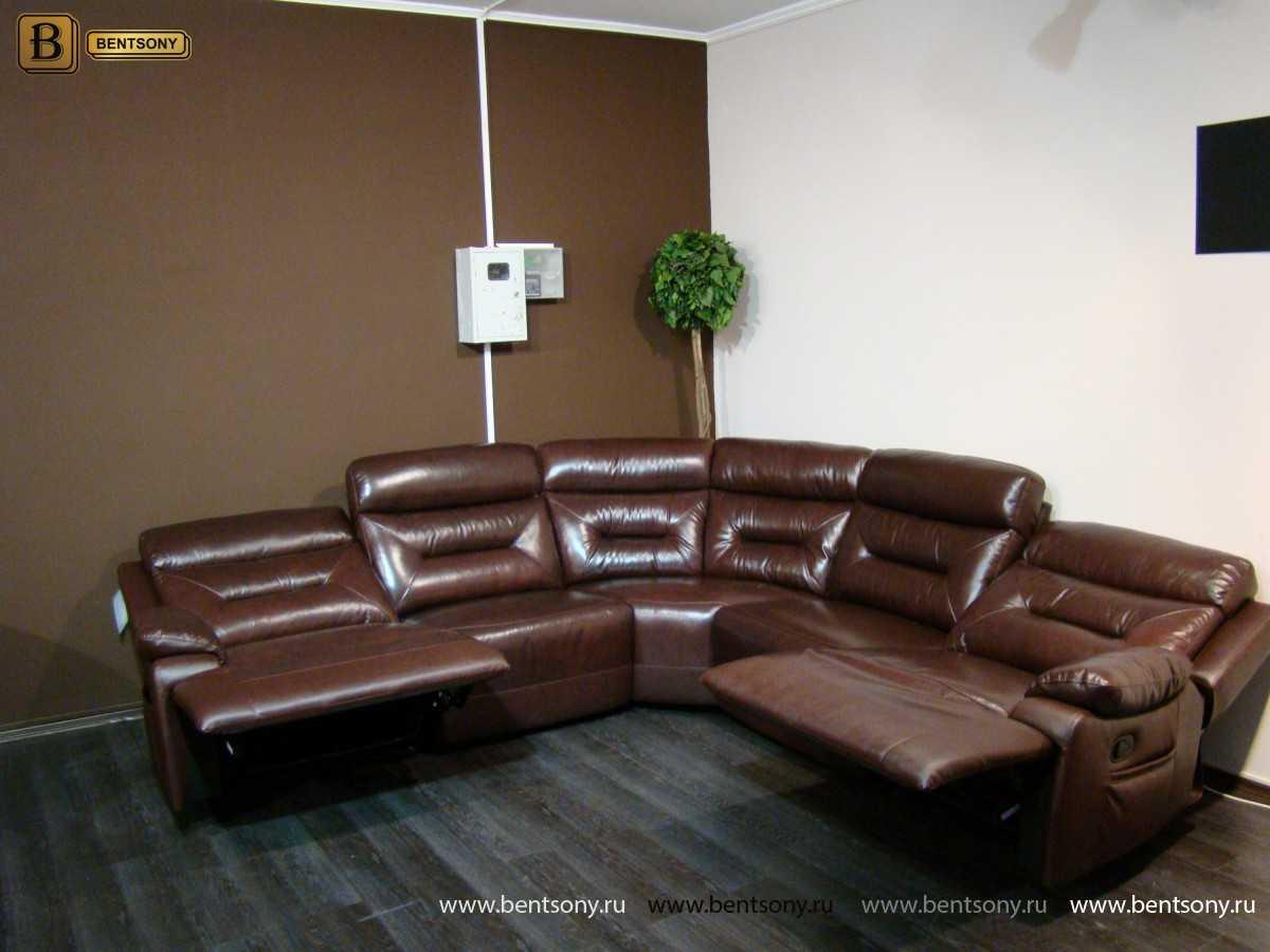 купить диван Амелия из натуральной кожи