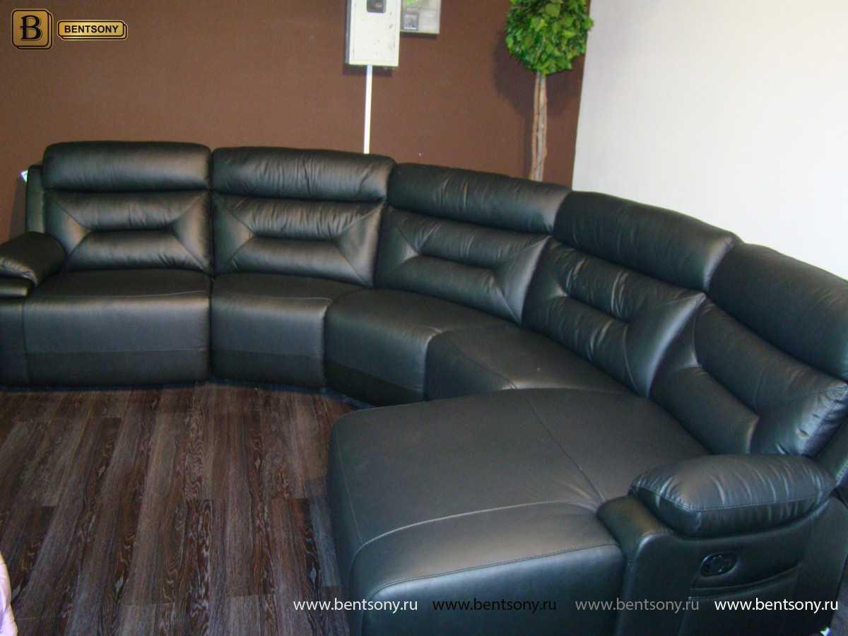 купить кожаный диван в москве Амелия
