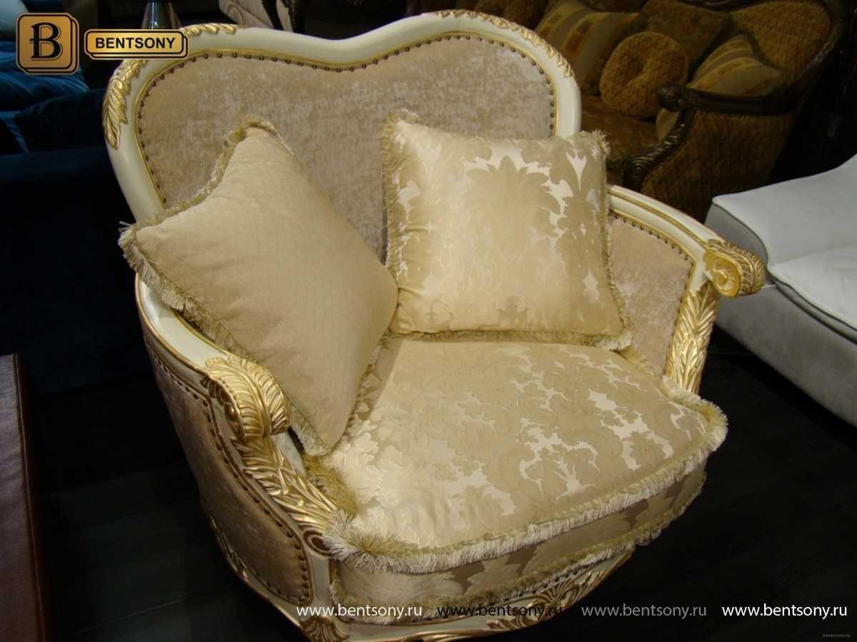Изображение Уютное тканевое классическое кресло Амадео