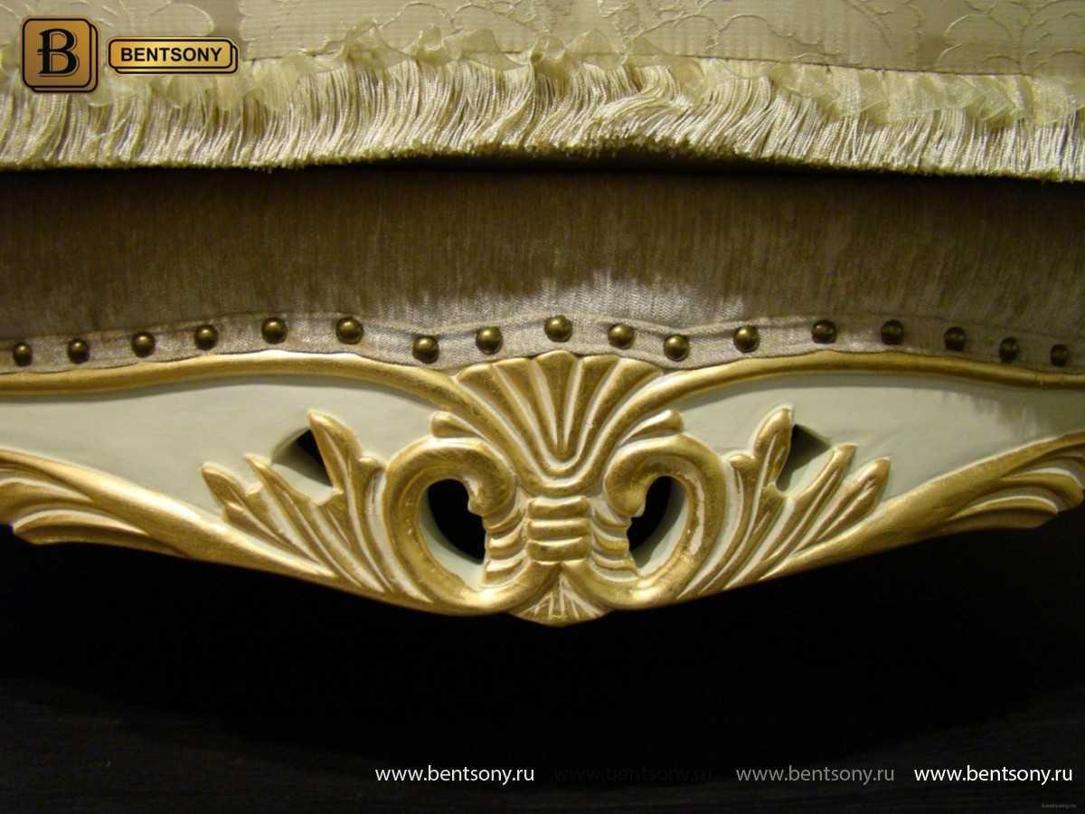 Белый классический диван Амадео