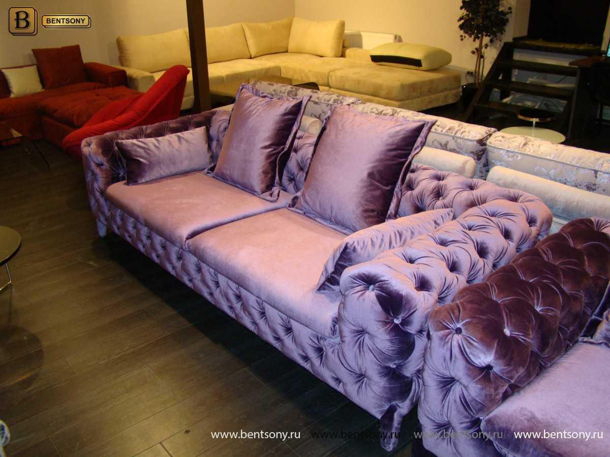 велюровый диван Скиллачи фиолетовый