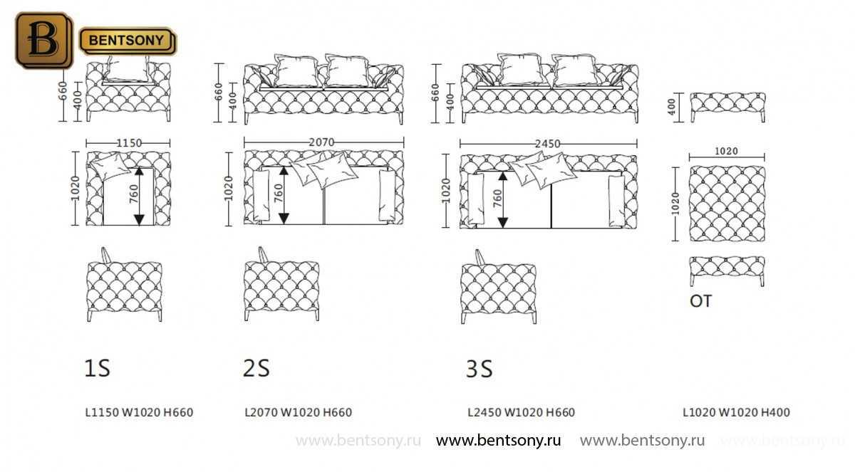 размерная сетка диванов Скиллачи