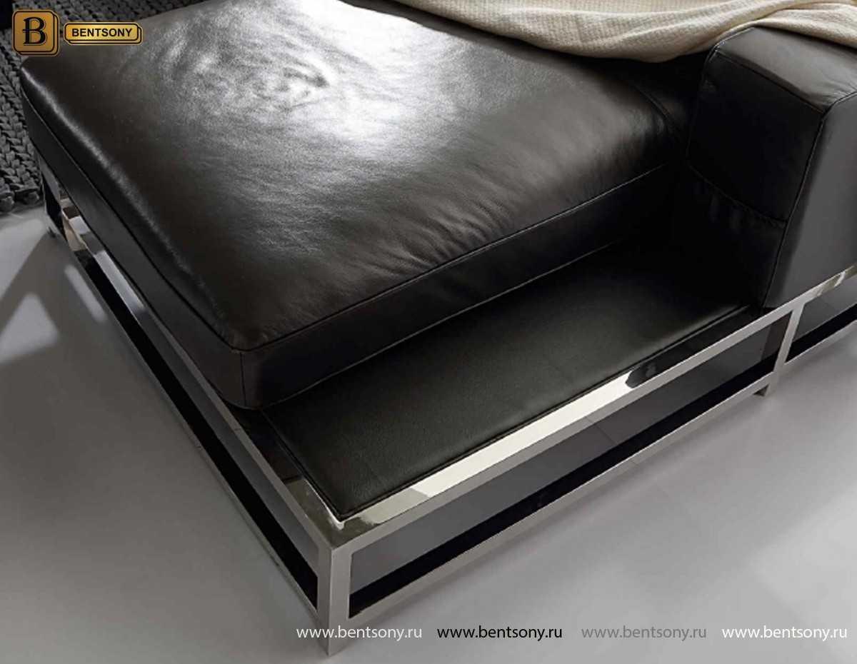 Диван Ди Донато (С шезлонгом, Натуральная кожа) каталог мебели