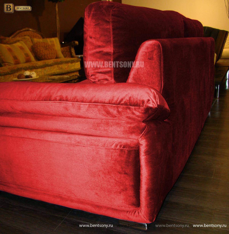 диван прямой велюровый красный Дельфико