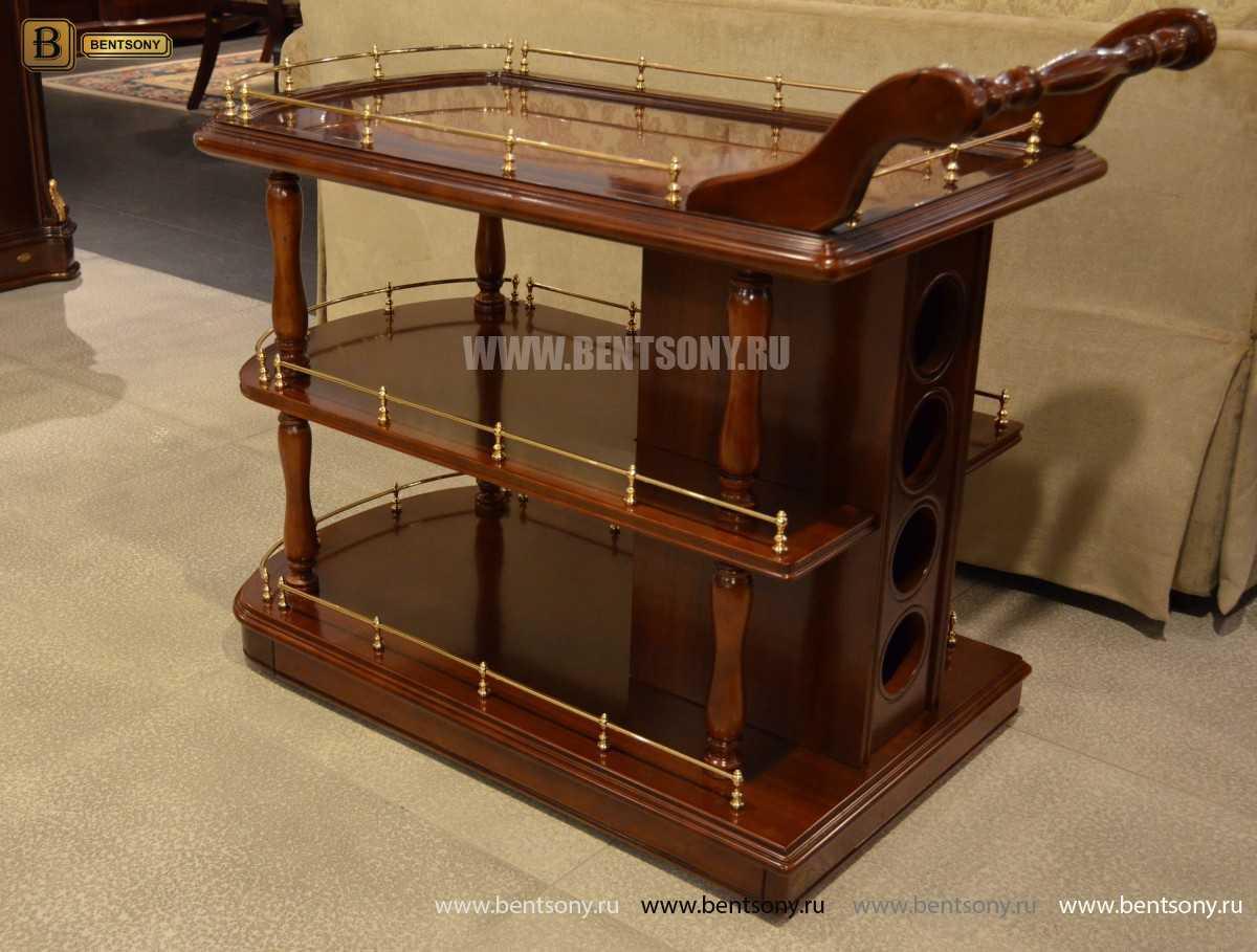 Сервировочный столик Вагнер (Классика, массив дерева) магазин