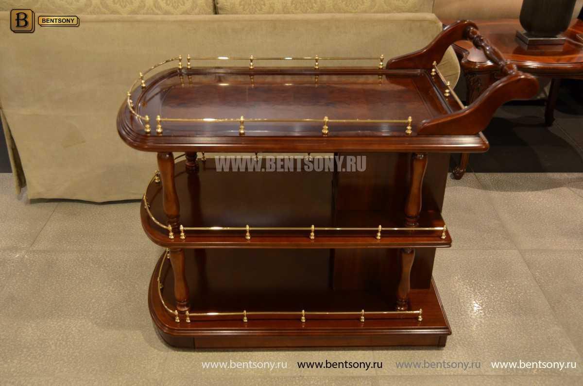 Сервировочный столик Вагнер (Классика, массив дерева) в интерьере