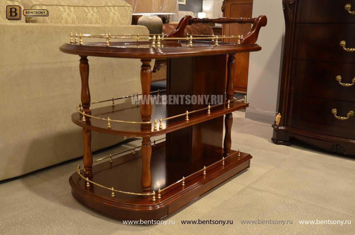 Сервировочный столик Вагнер (Классика, массив дерева) для дома
