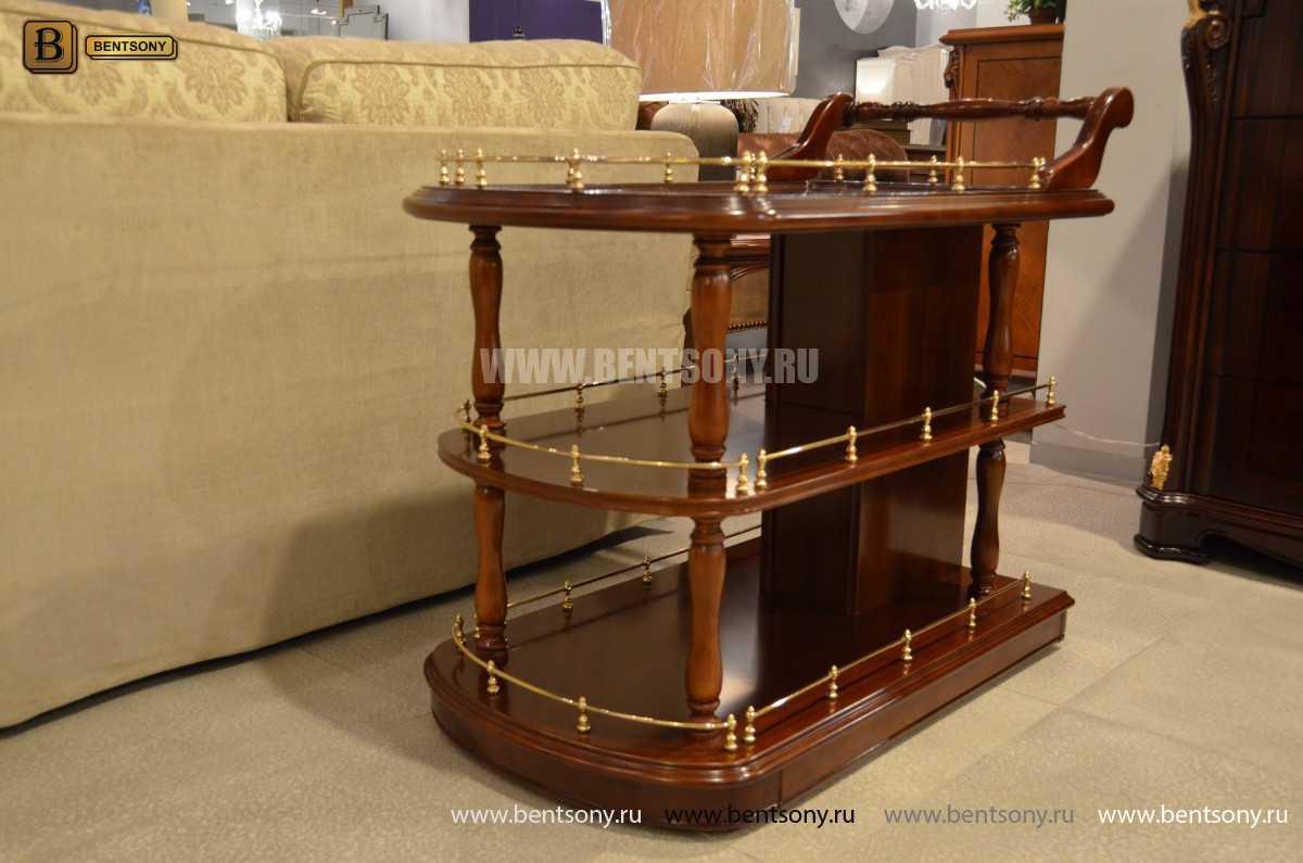 Сервировочный столик Вагнер (Классика, массив дерева) купить в СПб
