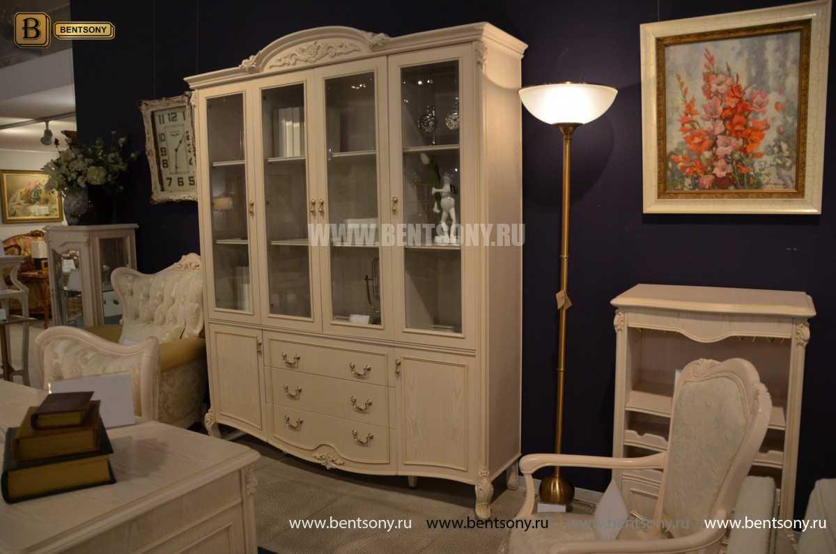 Книжный шкаф Флетчер-W (Классика, массив дерева) купить в Москве