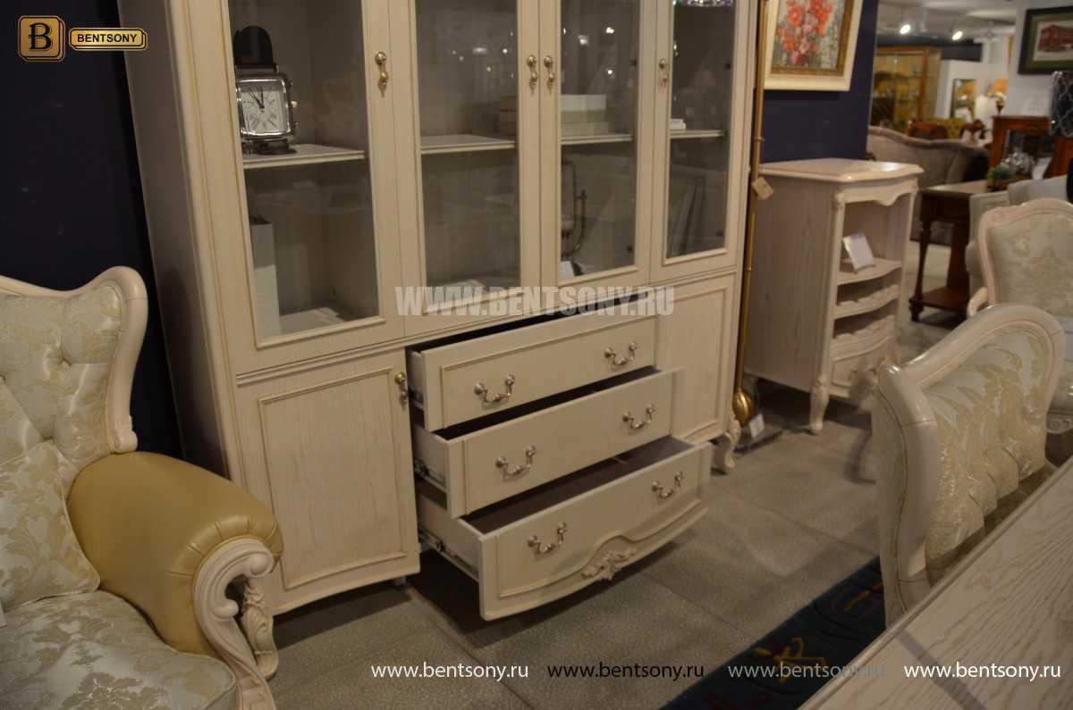 Книжный шкаф Флетчер-W (Классика, массив дерева) фото