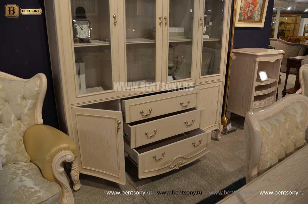Книжный шкаф Флетчер-W (Классика, массив дерева) для дома