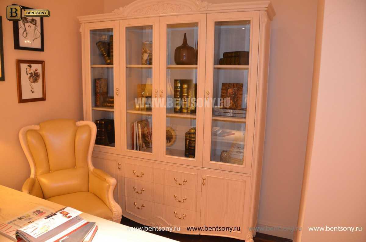 Книжный шкаф Флетчер-W (Классика, массив дерева) купить в СПб