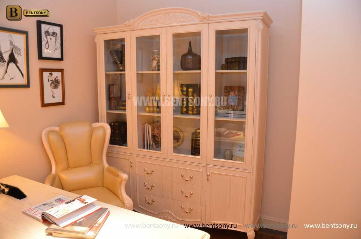 Книжный шкаф Флетчер-W (Классика, массив дерева) распродажа