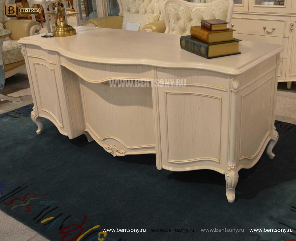 Письменный стол Флетчер-W (Классика, массив дерева) фото