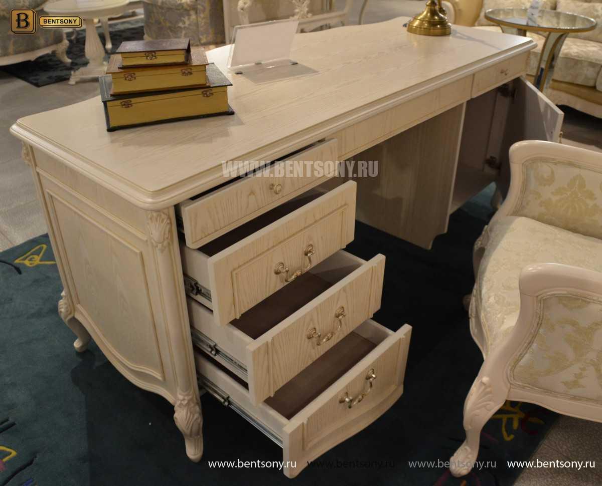 Письменный стол Флетчер-W (Классика, массив дерева) магазин Москва