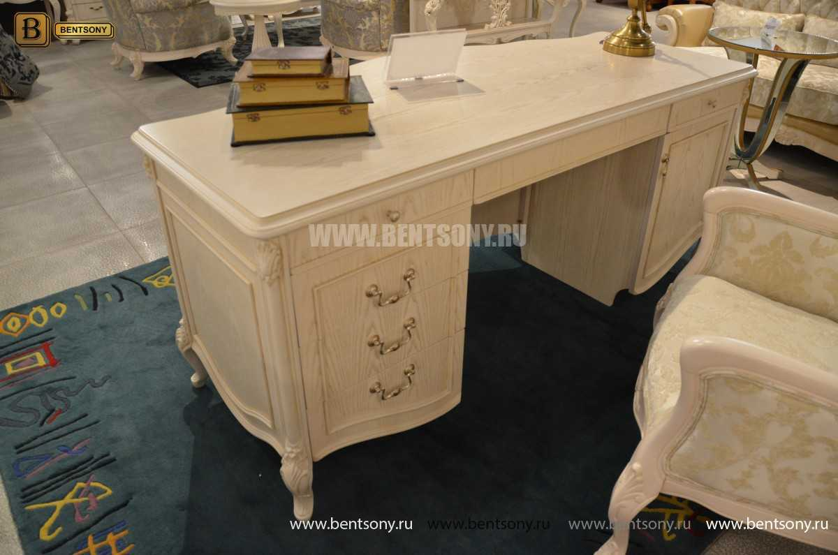 Письменный стол Флетчер-W (Классика, массив дерева) каталог мебели с ценами