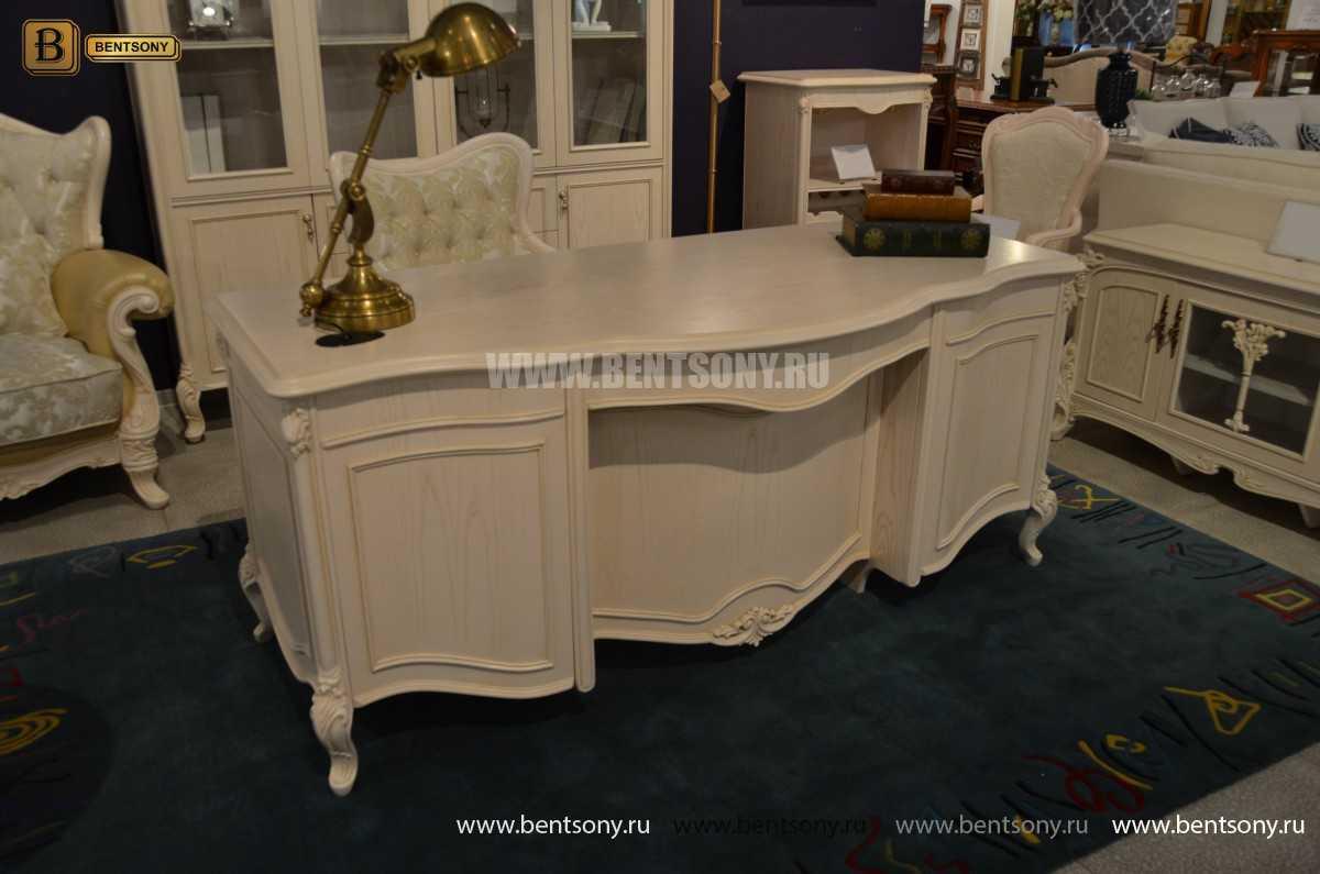 Письменный стол Флетчер-W (Классика, массив дерева) для дома