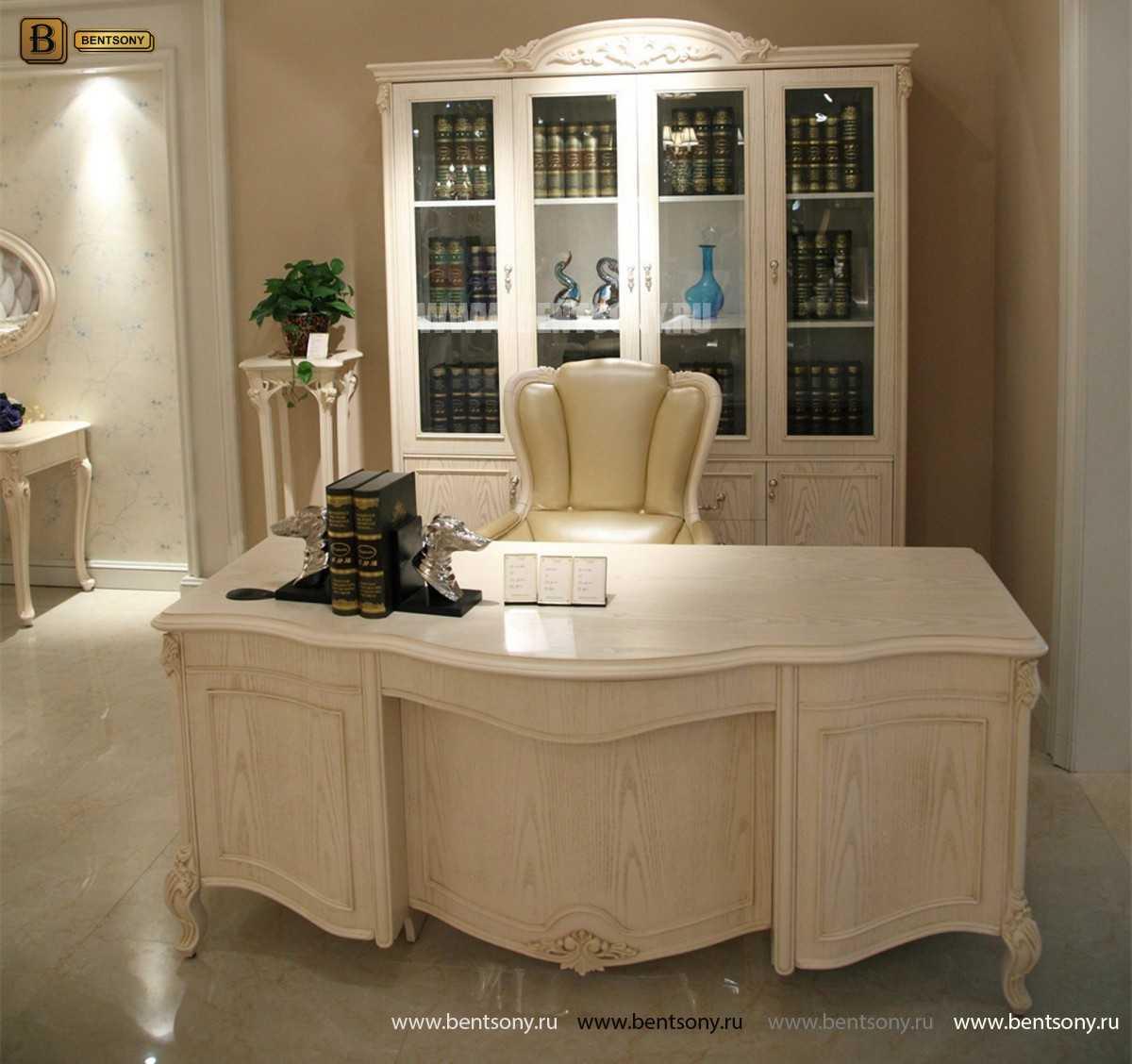 Письменный стол Флетчер-W (Классика, массив дерева) каталог мебели