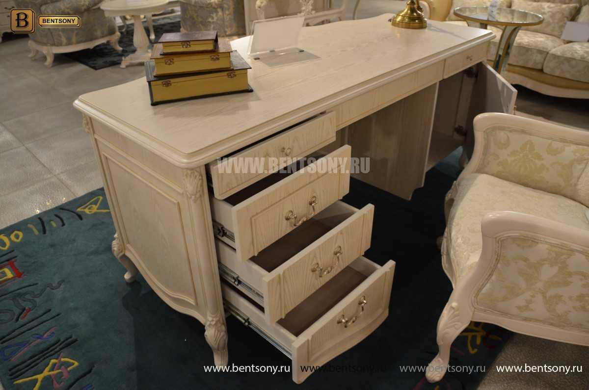Письменный стол Флетчер-W (Классика, массив дерева) купить в СПб